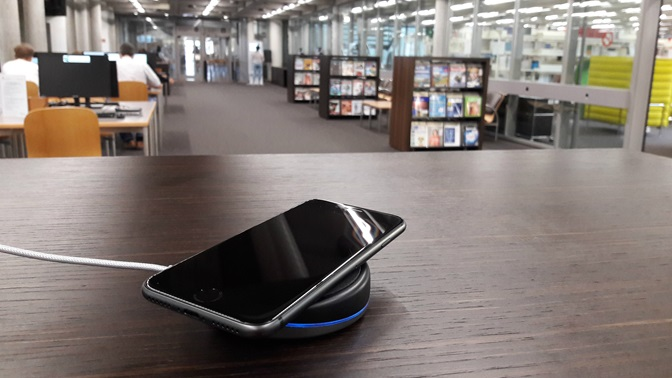 Wireless charging in the library